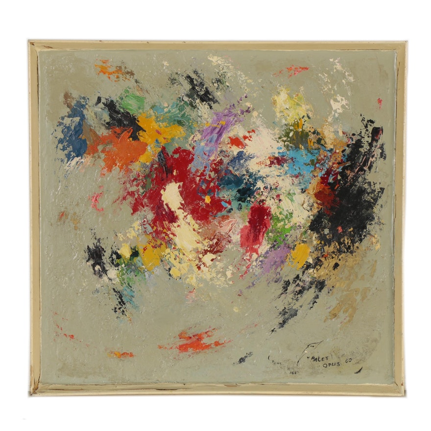 Abstract Oil Painting, 1967
