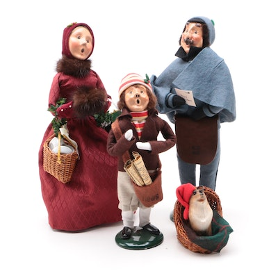 Byers' Choice Ltd. Carolers Figurines, Includes Paperboy and Dog in a Basket