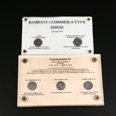 Constantius II Bronze Coins in Commemorative Cases