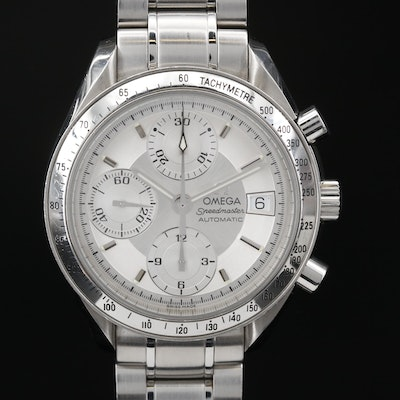 """Omega """"Speedmaster Date"""" Stainless Steel Automatic Wristwatch"""