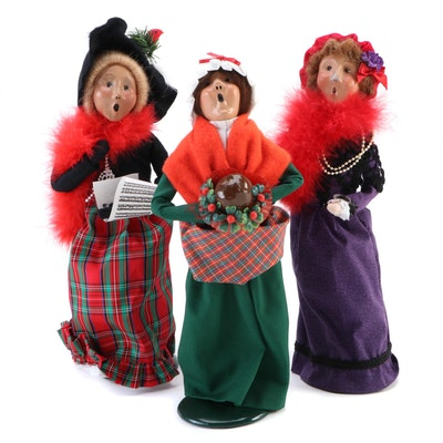 "Byers' Choice Carolers including ""Mrs. Cratchit"" Holiday Figurines"