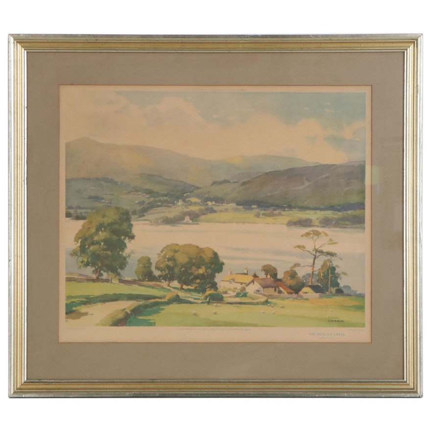 """Offset Lithograph after Frank Sherwin """"The English Lakes"""", 20th Century"""