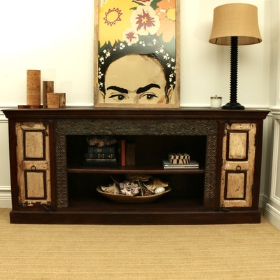 Contemporary Rustic Wooden Credenza