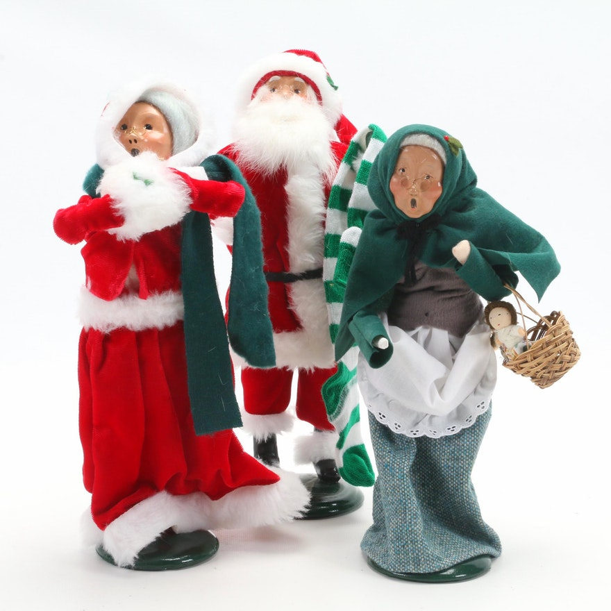 Byers' Choice Ltd. Caroler Figurines Including Santa and Mrs. Claus
