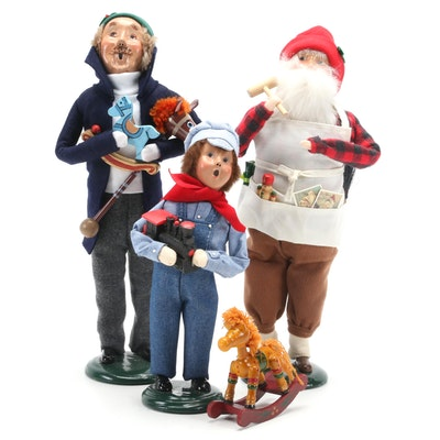 Byers' Choice Group of Three Holiday Carolers Figurines