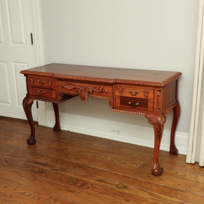 Chippendale Style Ball and Claw Writing Desk, 20th Century