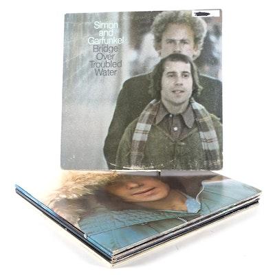Bob Dylan, Cat Stevens, Paul Simon, and Simon & Garfunkel Vinyl LP Records