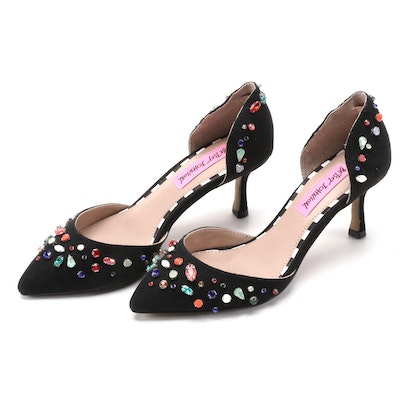Betsey Johnson Max Pumps in Black with Multicolor Embellishments