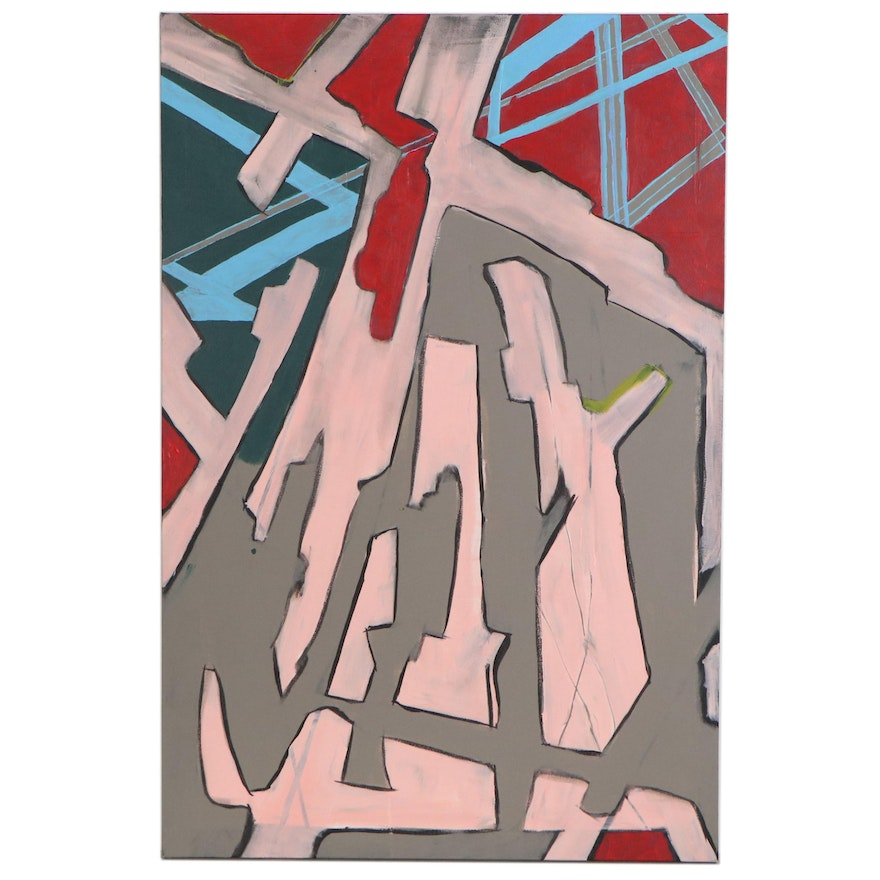 """Michael G. Larson Abstract Acrylic Painting """"Infection,"""" 2020"""