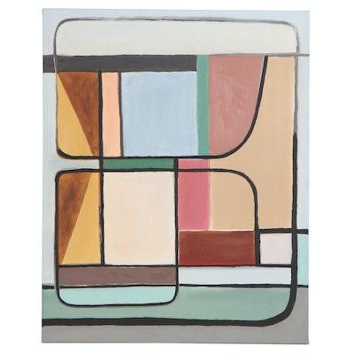 "Michael G. Larson Acrylic Painting ""Great Depression Era Quilt #3,"" 2020"