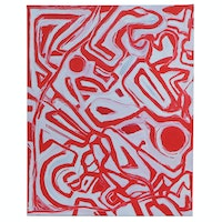 """Michael G. Larson Abstract Acrylic Painting """"Labyrinth Inside"""", 2020"""