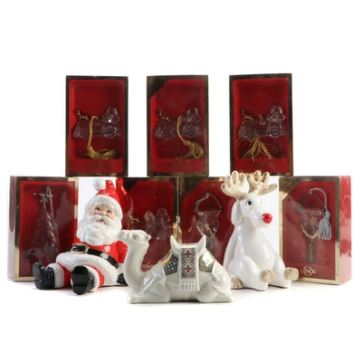 Lenox Jeweled Nativity Camel, Gorham Crystal Ornaments, and More