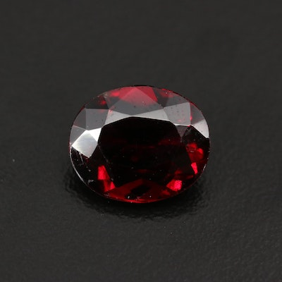 Loose 4.97 CT Oval Faceted Garnet