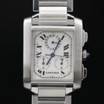 "Cartier ""Tank Francaise Chronoflex"" Stainless Steel Quartz Wristwatch"