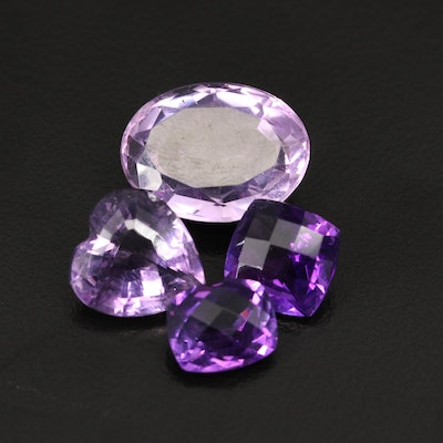 Loose 24.66 CTW Mixed Faceted Amethyst
