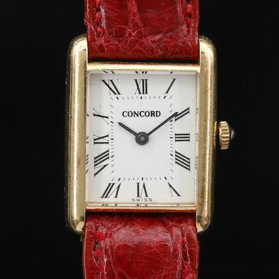 18K Concord Stem Wind Wristwatch