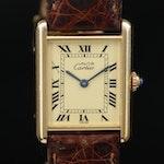 Cartier Must de Cartier Tank Vermeil Quartz Wristwatch