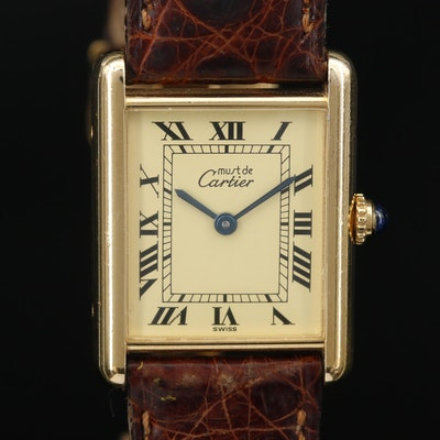 Cartier Must de Cartier Tank Vermeil Quartz Wristwatch