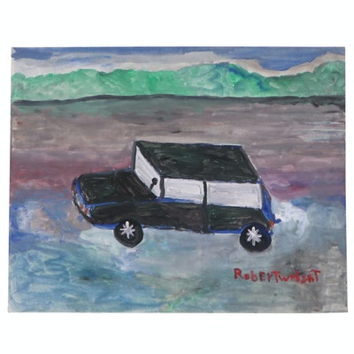 Robert Wright Acrylic Folk Art Car Painting