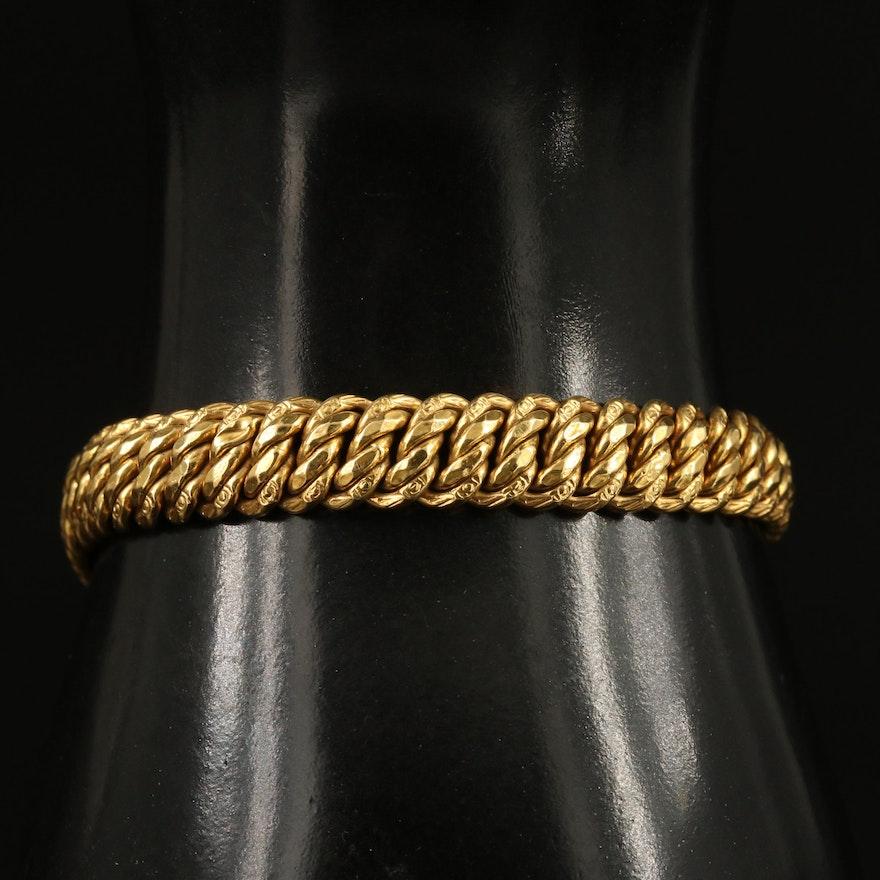 18K Fancy Link Bracelet