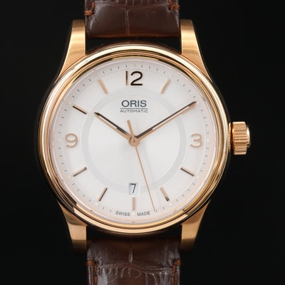 Oris Classic Date Gold Tone Stainless Steel Automatic Wristwatch