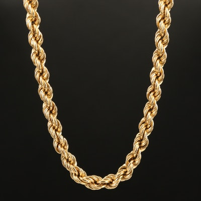 18K French Rope Link Chain