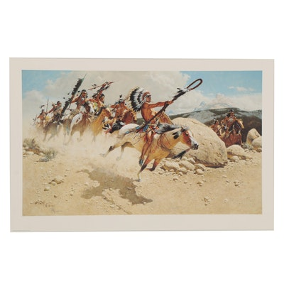 "Frank C. McCarthy Offset Lithograph ""Hoka Hey: Sioux War Cry"""