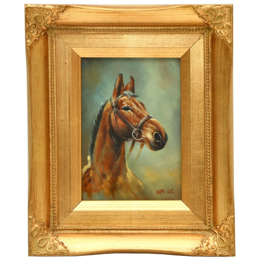 Horse Oil Portrait, Late 20th to 21st Century