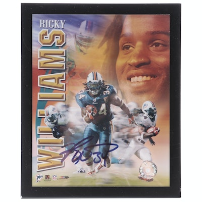 Ricky Williams Signed NFL Miami Dolphins Framed Photo Print