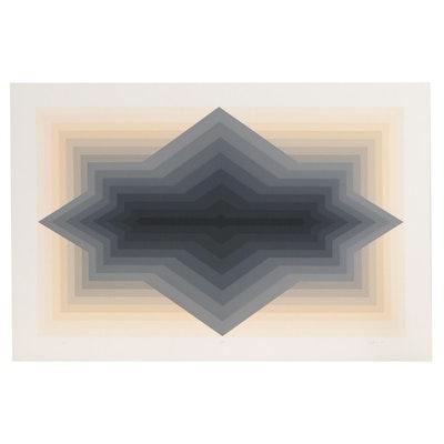 """Jurgen Peters Serigraph Print """"Spur"""", 1981"""