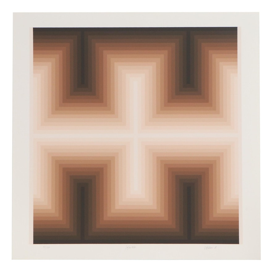"Jurgen Peters Serigraph Print ""Infinitive"", 1981"