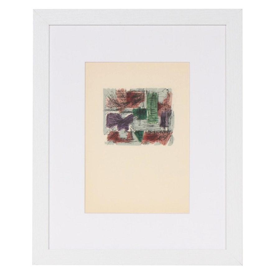 """Jean René Bazaine Color Lithograph for """"Derrière le Miroir"""", 20th Century"""