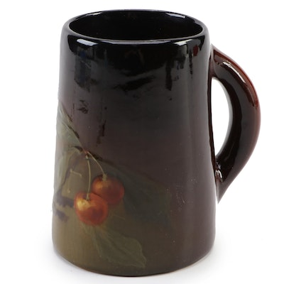 "Weller ""Louwelsa"" Cherry Stem Motif Faïence Mug, Early 20th Century"