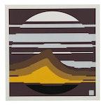 "Thomas W. Benton Abstract Serigraph ""Earth Series #2"", 1978"