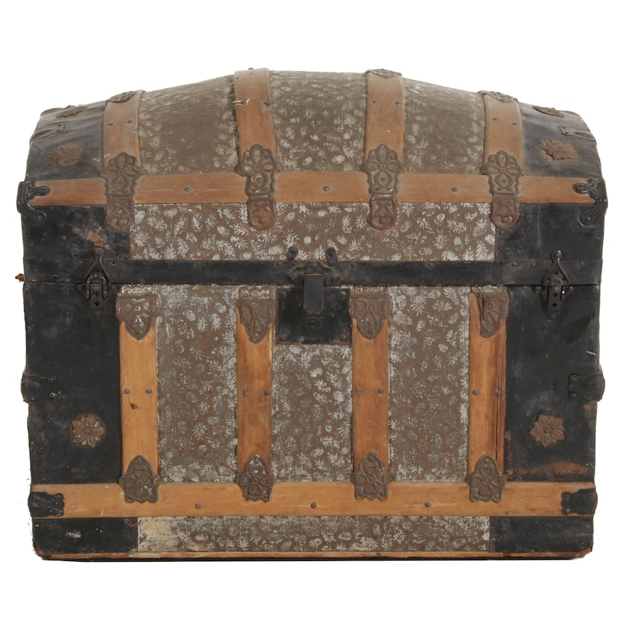 Dome Top Steamer Trunk, Late 19th-Early 20th Century