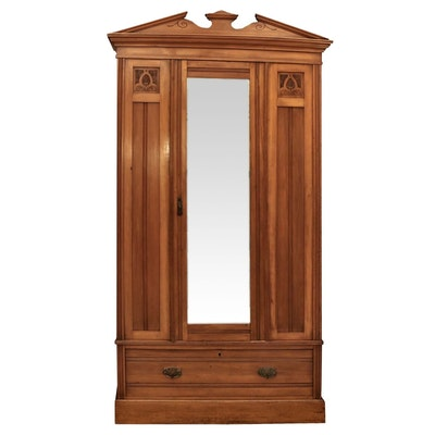 Victorian Walnut Knock Down Wardrobe, 19th Century