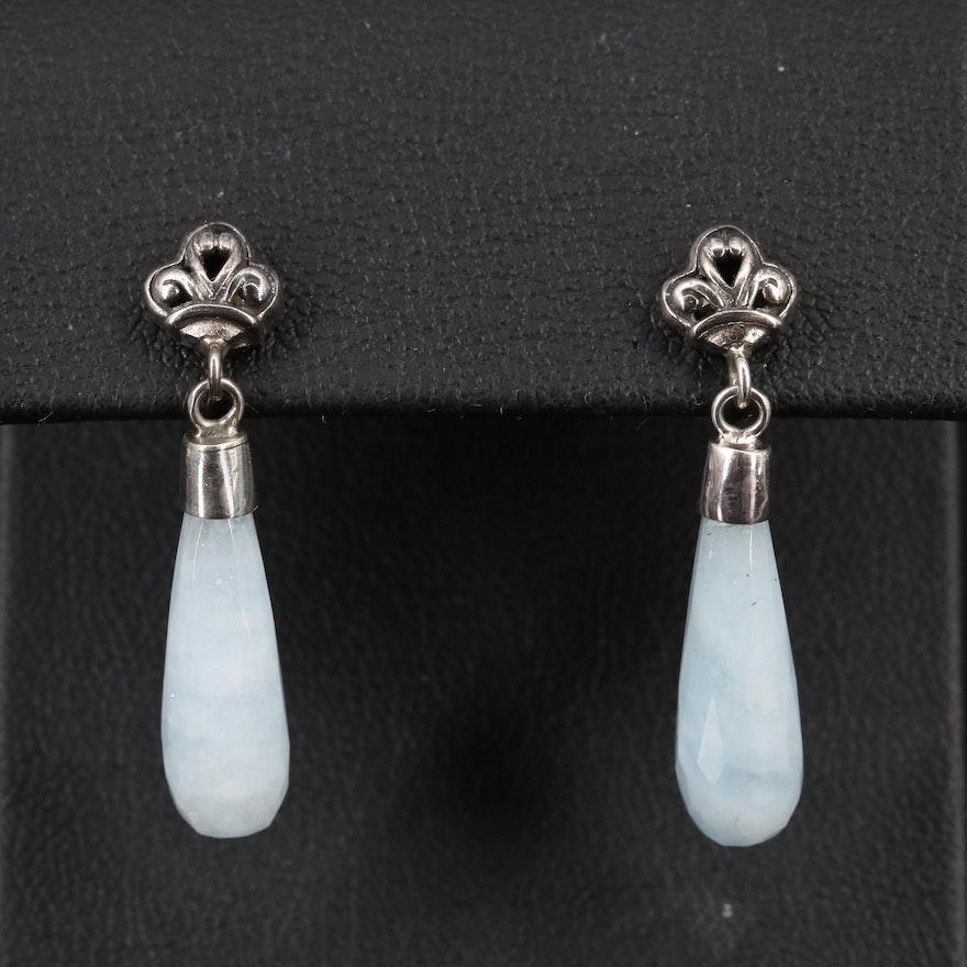 Sterling Silver Aquamarine Dangle Earrings