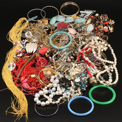 Jewelry with Beaded Necklaces, Bangles and Sterling Silver