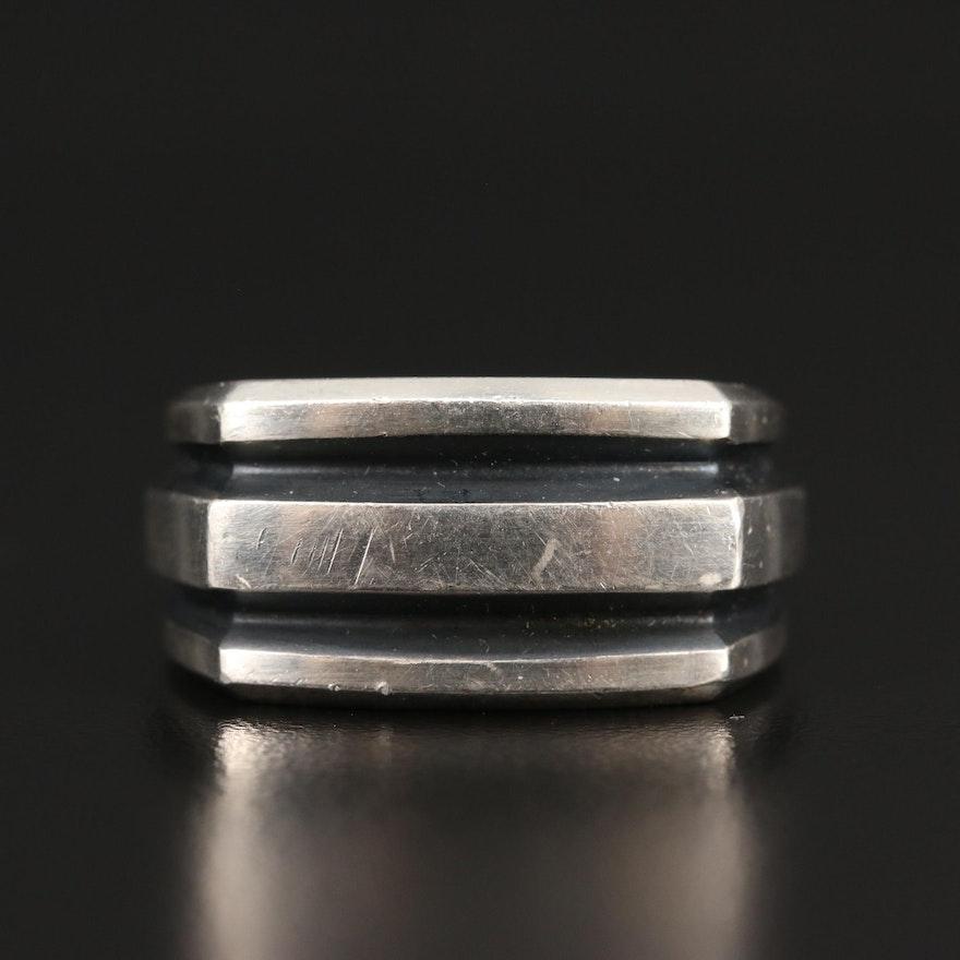 David Yurman Sterling Silver Channel Ring