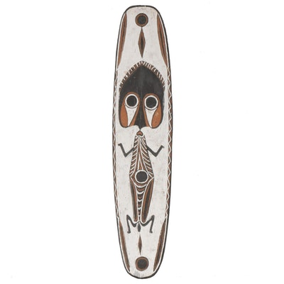 "Polychrome Handmade Wooden ""Gope"" Board, Papua New Guinea"