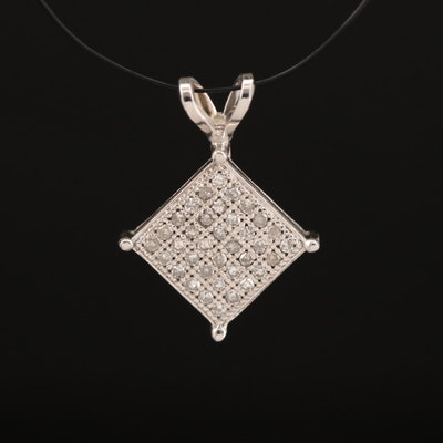 10K Diamond Lattice Pendant
