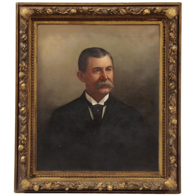 Oil Portrait of a Gentleman, Late 19th to Early 20th Century