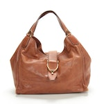 Gucci Hobo Shoulder Bag in Brown Leather with Horsebit Hardware