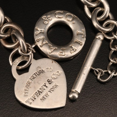 "Tiffany & Co. ""Return to Tiffany"" Sterling Silver Heart Tag Necklace"