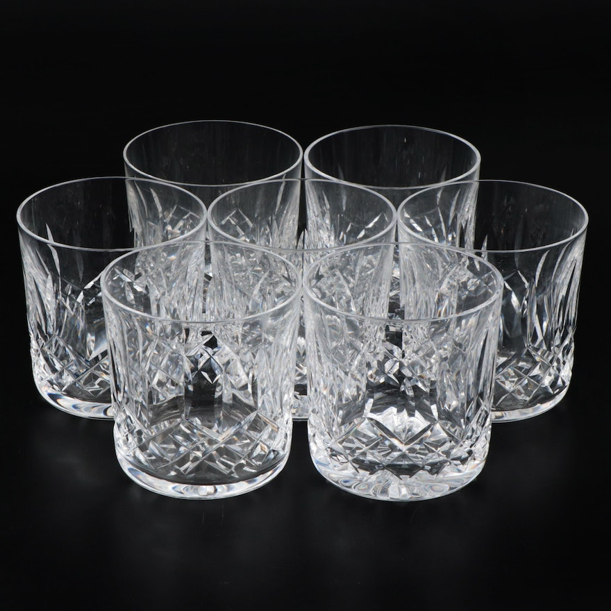 "Waterford ""Lismore"" and Other Cut Crystal Old Fashioned Glasses"