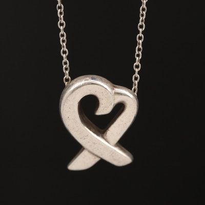 Paloma Picasso for Tiffany & Co. Sterling Silver Loving Heart Necklace