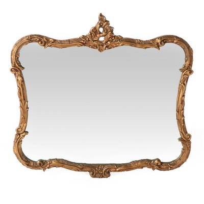 Rococo Style Giltwood and Composition Mirror, Mid-20th Century