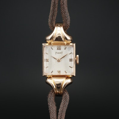 Piaget 18K Rose Gold Stem Wind Wristwatch