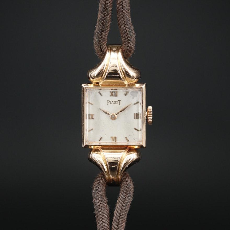 Piaget 18K Rose Gold Stem Wind Wristwatch