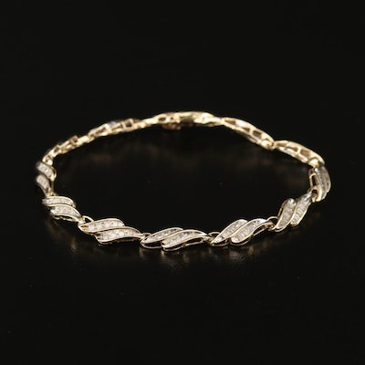 10K 1.27 CTW Diamond Fancy Link Bracelet